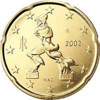 Image of Italy 20 cents coin