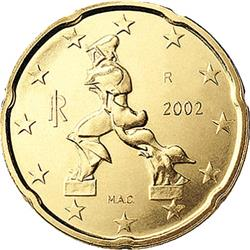 Obverse of Italy 20 cents 2009 - Sculpture by Umberto Boccioni