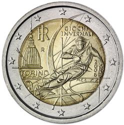Obverse of Italy 2 euros 2006 - XX Olympic Winter Games - Turin 2006