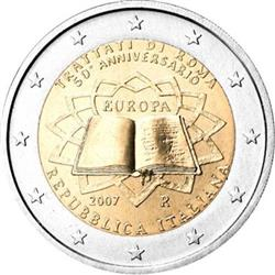 Obverse of Italy 2 euros 2007 - 50th anniversary of the Treaty of Rome