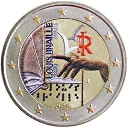 Obverse of Italy 2 euros 2009 - 200th Birthday of Louis Braille
