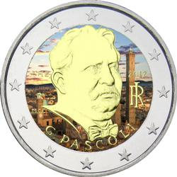 Obverse of Italy 2 euros 2012 - 100 Years since the Death of Giovanni Pascoli