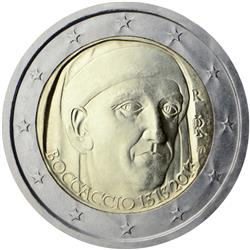 Obverse of Italy 2 euros 2013 - 700th Anniversary of the Birth of Giovanni Boccaccio