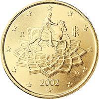 Image of Italy 50 cents coin