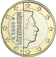 Image of Luxembourg 1 euro coin