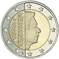 Image of Luxembourg 2 euros coin