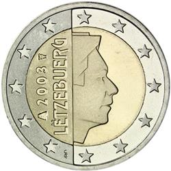 Obverse of Luxembourg 2 euros 2003 - The Grand Duke Henri