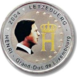 Obverse of Luxembourg 2 euros 2004 - Effigy of the Grand Duke Henri