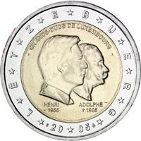 Image of Luxembourg 2 euros commemorative coin