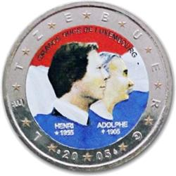 Obverse of Luxembourg 2 euros 2005 - Birthday Grand Duke Henri