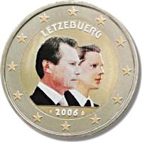 Image of Luxembourg 2 euros colored euro