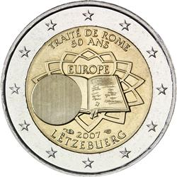 Obverse of Luxembourg 2 euros 2007 - 50th anniversary of the Treaty of Rome