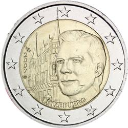 Obverse of Luxembourg 2 euros 2007 - The Grand-Ducal Palace