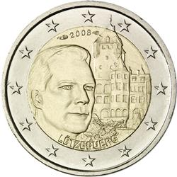 Obverse of Luxembourg 2 euros 2008 - Chateau de Berg