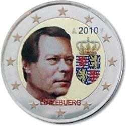 Obverse of Luxembourg 2 euros 2010 - Arms of the Grand Duke