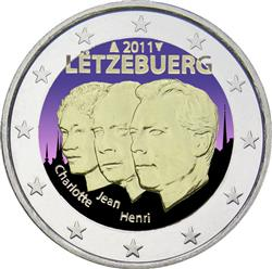 Obverse of Luxembourg 2 euros 2011 - Jean de Luxembourg