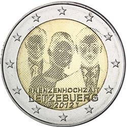 Obverse of Luxembourg 2 euros 2012 - Royal Wedding