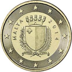 Obverse of Malta 10 cents 2008 - The emblem of Malta