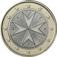 Image of Malta 1 euro coin