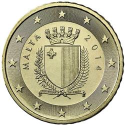 Obverse of Malta 50 cents 2013 - The emblem of Malta
