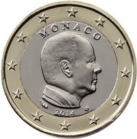 Image of Monaco 1 euro coin