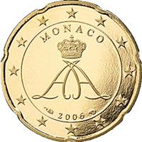 Image of Monaco 20 cents coin