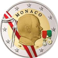 Image of Monaco 2 euros colored euro