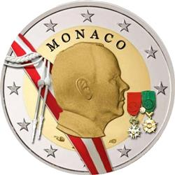 Obverse of Monaco 2 euros 2009 - Sovereign Prince Rainier III