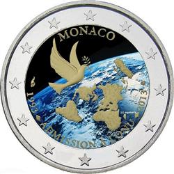 Obverse of Monaco 2 euros 2013 - 20th anniversary of its accession to the UN