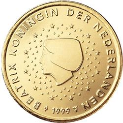 Obverse of Netherlands 10 cents 2002 - Queen Beatrix in profile