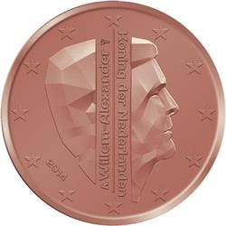Obverse of Netherlands 1 cent 2014 - King Willem-Alexander