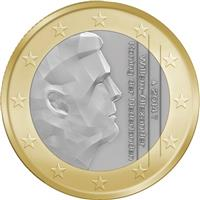 Image of Netherlands 1 euro coin