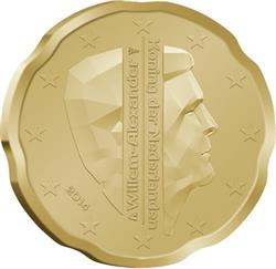 Obverse of Netherlands 20 cents 2014 - King Willem-Alexander