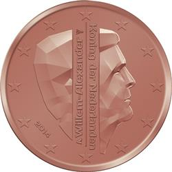 Obverse of Netherlands 2 cents 2016 - King Willem-Alexander