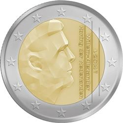 Obverse of Netherlands 2 euros 2016 - King Willem-Alexander