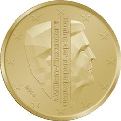 Obverse of Netherlands 50 cents 2014 - King Willem-Alexander