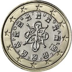 Obverse of Portugal 1 euro 2009 - Portuguese Royal Seal - AD 1144