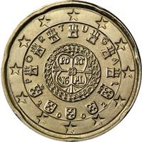 Image of Portugal 20 cents coin