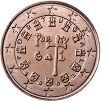 Image of Portugal 2 cents coin