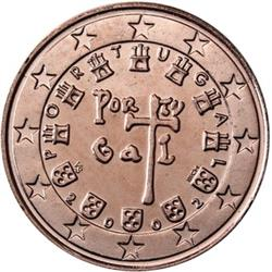 Obverse of Portugal 2 cents 2007 - First Portuguese Royal Seal - AD 1134