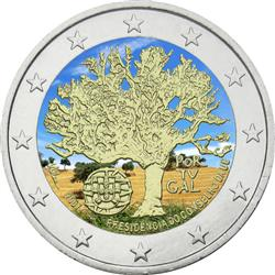 Obverse of Portugal 2 euros 2007 - Portuguese Presidency of the EU Council