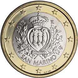 Obverse of San Marino 1 euro 2010 - Coat of arms