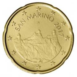 Obverse of San Marino 20 cents 2017 - The Three Towers Of San Marino