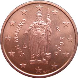 Obverse of San Marino 2 cents 2005 - Statue of Liberty