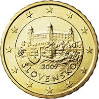 Image of Slovakia 10 cents coin