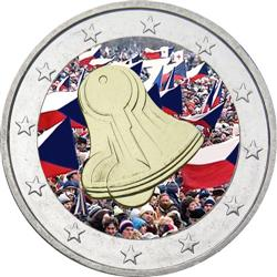 Obverse of Slovakia 2 euros 2009 - 20th Anniversary of the Start of the Velvet Revolution