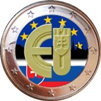 Image of Slovakia 2 euros colored euro