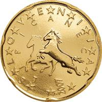 Image of Slovenia 20 cents coin