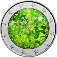 Image of Slovenia 2 euros colored euro