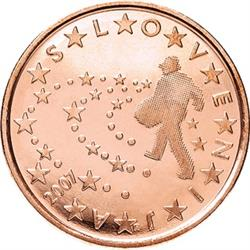 Obverse of Slovenia 5 cents 2007 - Sower